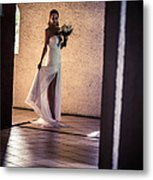 Bride. In Color Metal Print by Jenny Rainbow
