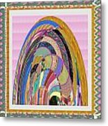 Bride In Layers Of Veils Accidental Discovery From Graphic Abstracts Made From Crystal Healing Stone Metal Print