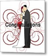 Bride N Groom Congratulations Metal Print