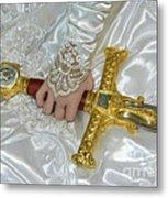 Sword In Hand Metal Print