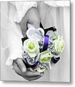 Bridesmaid Bouquet Metal Print