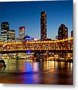 Bridge Across A River, Story Bridge Metal Print