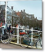 Bridge Across Canal - Amsterdam Metal Print