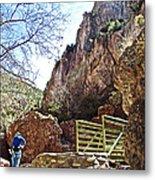 Bridge Across The Whitewater River On Whitewater Catwalk National Recreation Trail Near Glenwood-new Metal Print