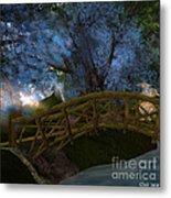 Bridge And Blue Tree Metal Print