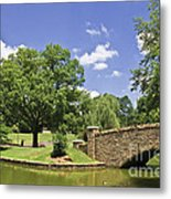 Bridge At A Park In The Summer Metal Print