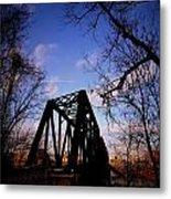 Bridge At Dusk Metal Print