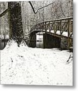 Bridge At Old Mine Park Metal Print
