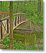 Bridge At River Bend Metal Print