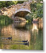 Bridge At Stow Lake Metal Print