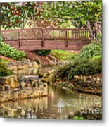 Bridge At Shelton Vineyards Metal Print