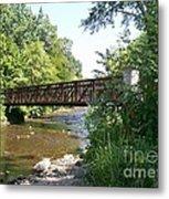 Bridge At Waubonsie Creek Metal Print