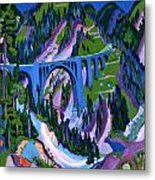 Bridge At Wiesen Metal Print