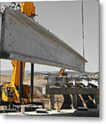 Bridge Building Bw Metal Print