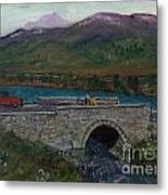 Bridge By Reservoir Metal Print
