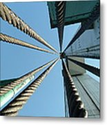 Bridge Cables Metal Print by Kenneth Summers