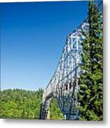 Bridge Connecting Oregon And Washington Metal Print