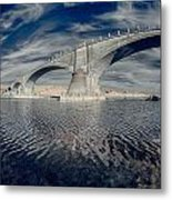 Bridge Curvature In Color Metal Print
