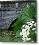 Stone Bridge Daisies Metal Print