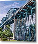 Bridge From The Park Metal Print