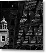 Bridge Grate Metal Print