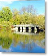 Bridge In A Park Metal Print