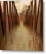 Bridge In Abstract Metal Print