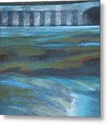 Bridge In Flood Stage Metal Print