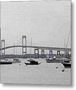 Bridge In Newport Metal Print