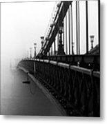 Bridge In The Fog - V Metal Print