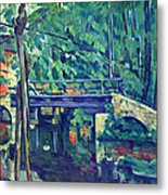 Bridge In The Forest By Cezanne Metal Print