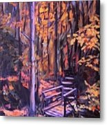Bridge In Woods Near Pandapas Metal Print