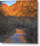 Bridge Mt And The Virgin River Zion Np Metal Print