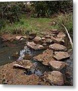 Bridge Of Rocks Across The River Metal Print
