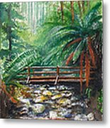 Bridge Over Badger Creek Metal Print