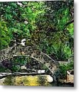 Bridge Over Metal Print by Cary Shapiro