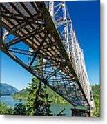 Bridge Over Columbia River Metal Print