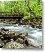 Bridge Over Little Pigeon River Metal Print