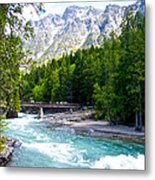 Bridge Over Mcdonald Creek In Glacier Np-mt Metal Print