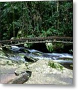 Bridge Over Mountain Stream Metal Print