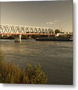 Bridge Over Rhein River Metal Print
