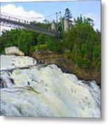 Bridge Over Rushing Water Metal Print