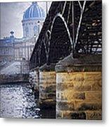 Bridge Over Seine In Paris Metal Print
