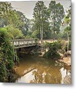 Bridge Over Siem Reap River On The Road Metal Print
