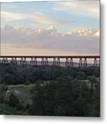 Bridge Over Still Water Metal Print