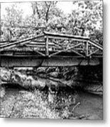 Bridge Over The Delaware Canal At Washington's Crossing Metal Print