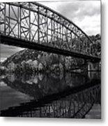 Bridge Reflections In Autumn Metal Print