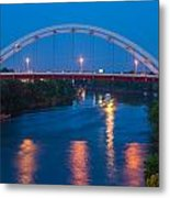Bridge Reflections Metal Print