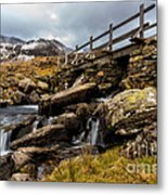 Bridge To Idwal Metal Print