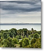 Bridge To Mackinac Metal Print